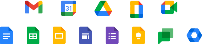 Google Workspace all icons